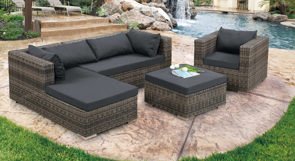 Nice This Is Another Material That Is Good For A Modern Patio Sofa. Leather Is A  Heavy Duty Material, Is Easy To Maintain And Lasts Longer.