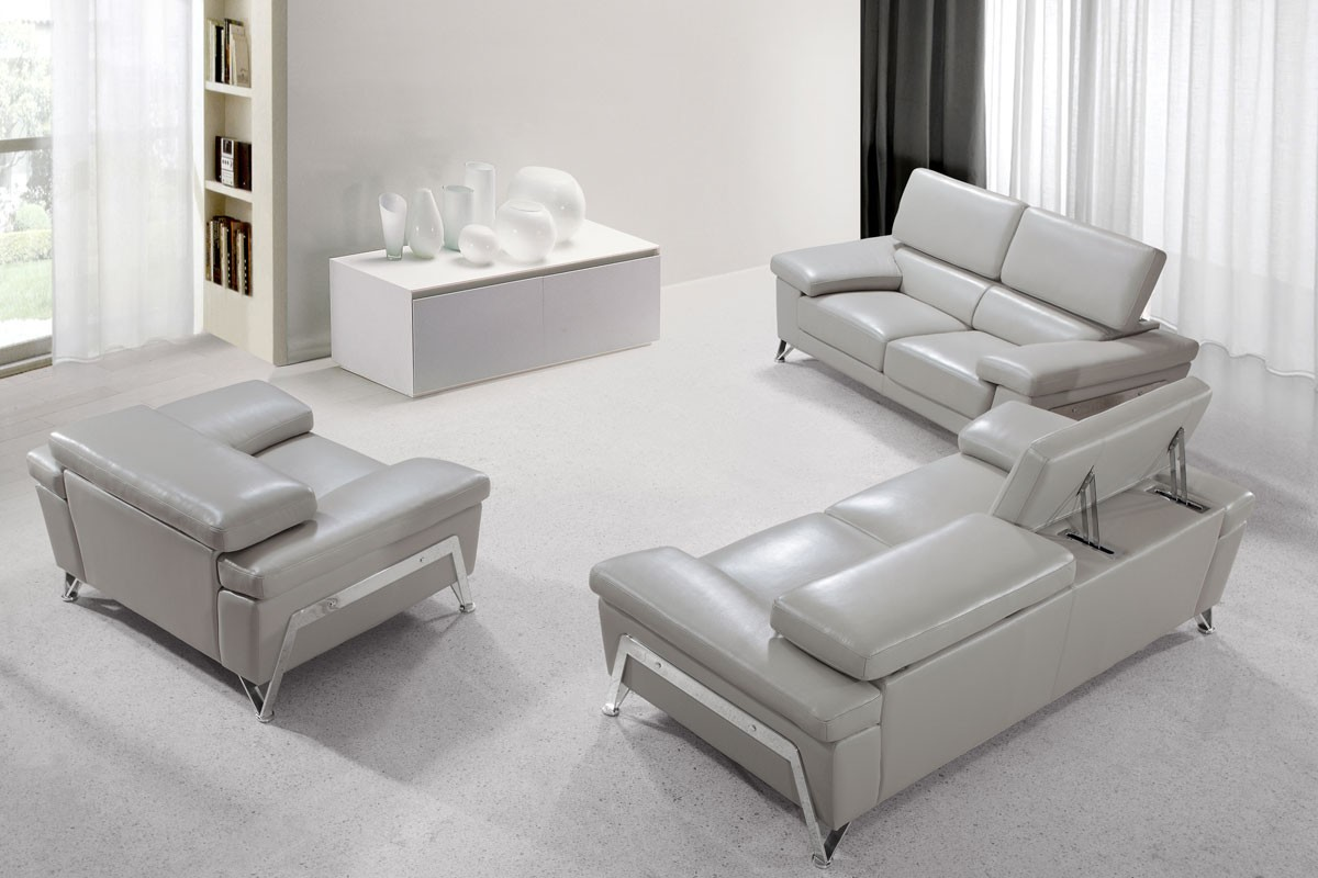 Gray Leather Living Room Furniture Black Leather Living Room ...