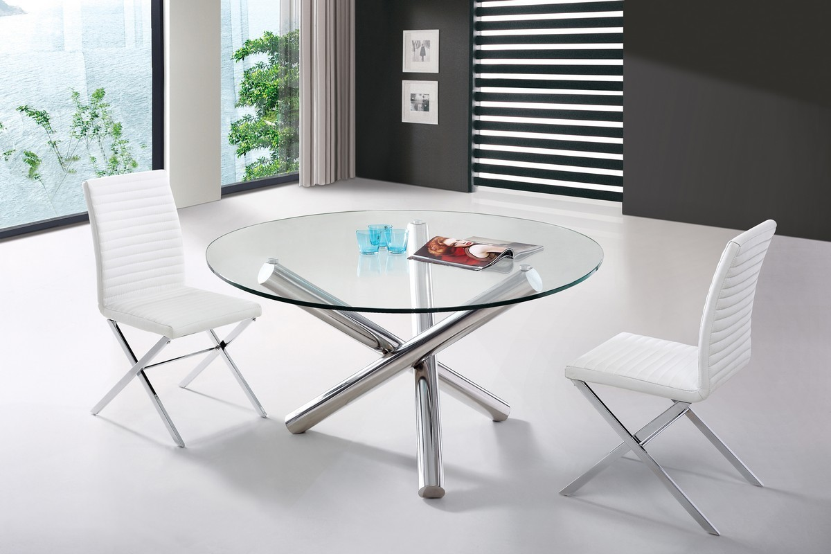 Glass Table Top Table by LAFurniture