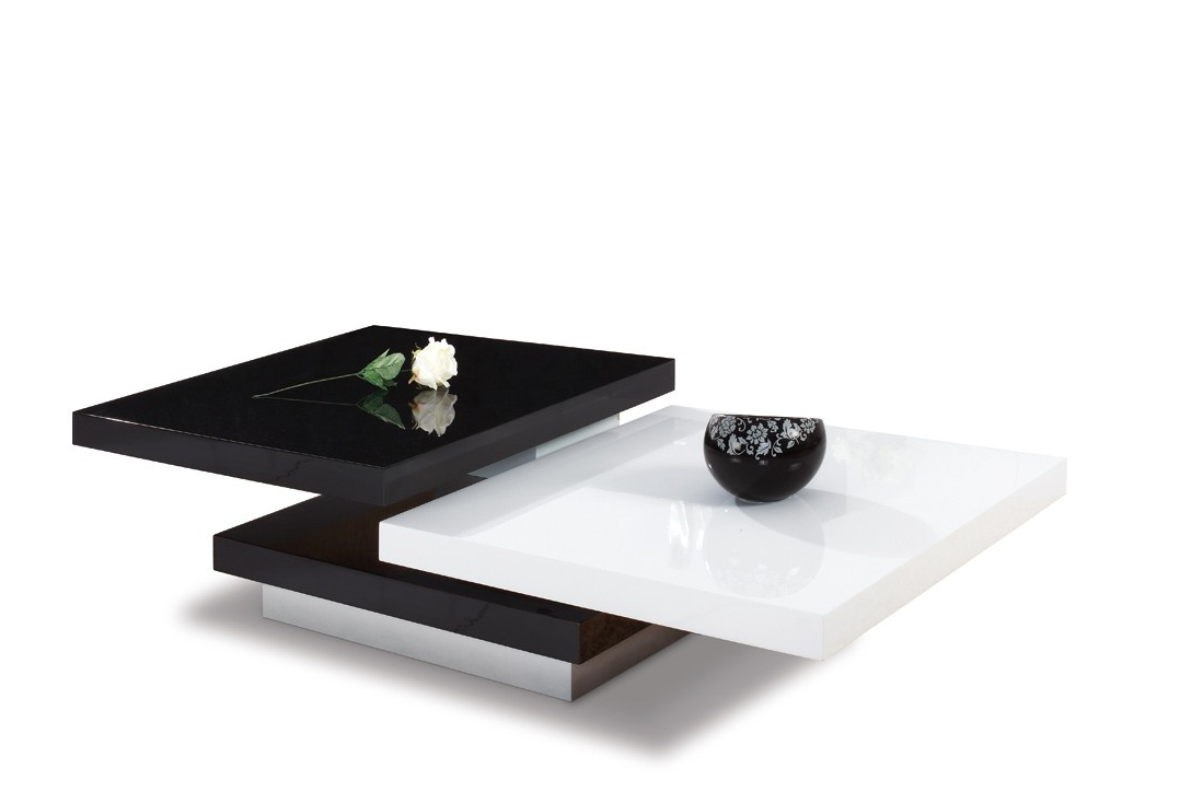 The sleek modrest modern coffee table provides a modern touch as