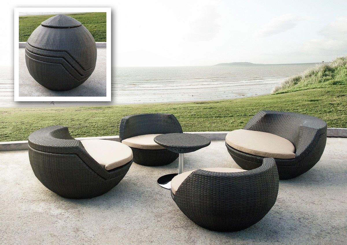 modern patio furniture. Egg-compact-patio-set_1 Modern Patio Furniture N