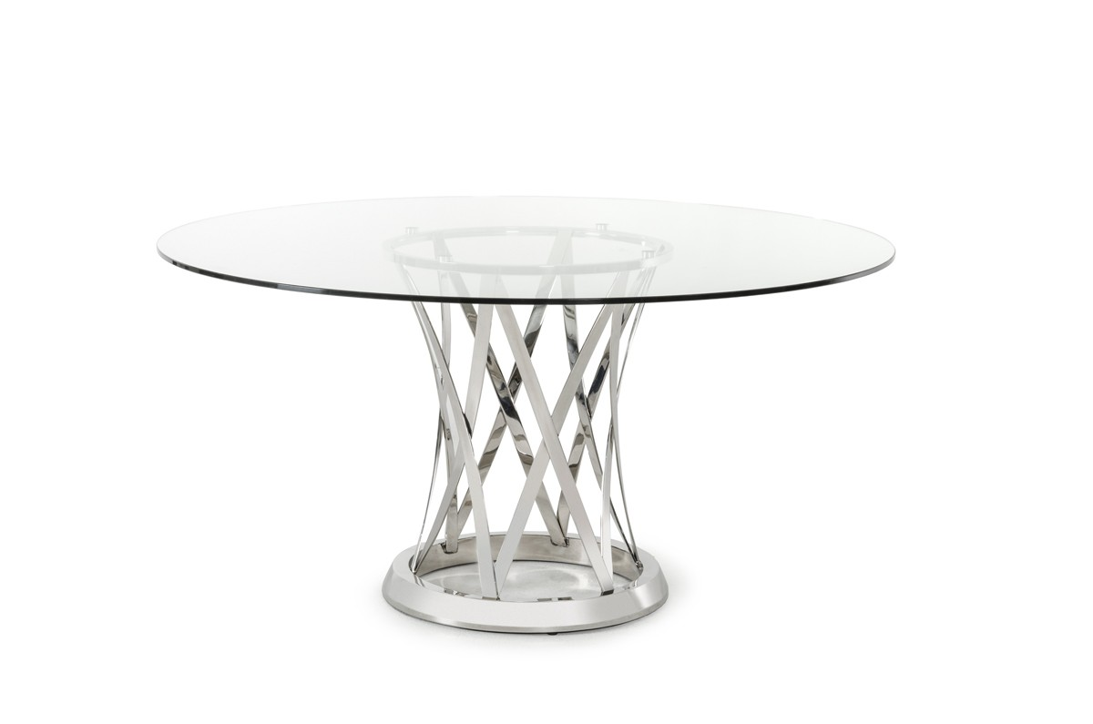 Modern Round Glass Dining Table understand the various standard dining table measurements - la