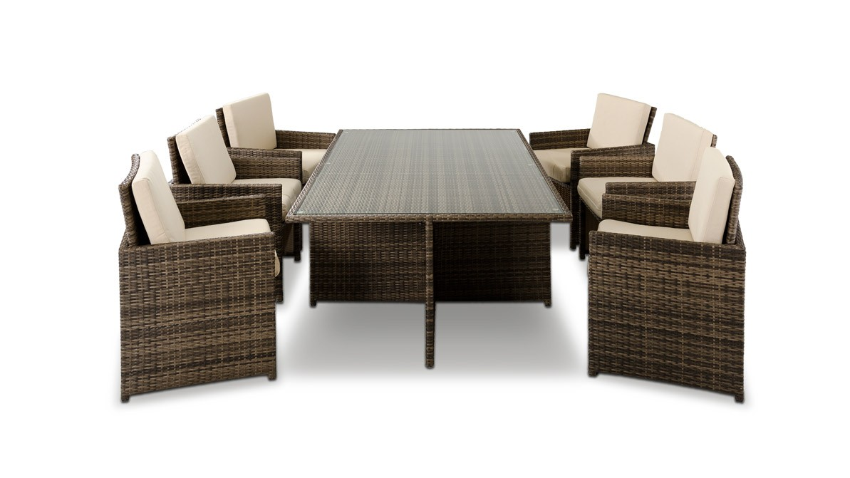 Barcelona Rectangular Compact Table 6 Fold Out Add Lovely Texture To Your Home Décor By Incorporating Wicker Furniture