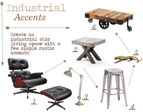 Industrial Accents   Polyvore