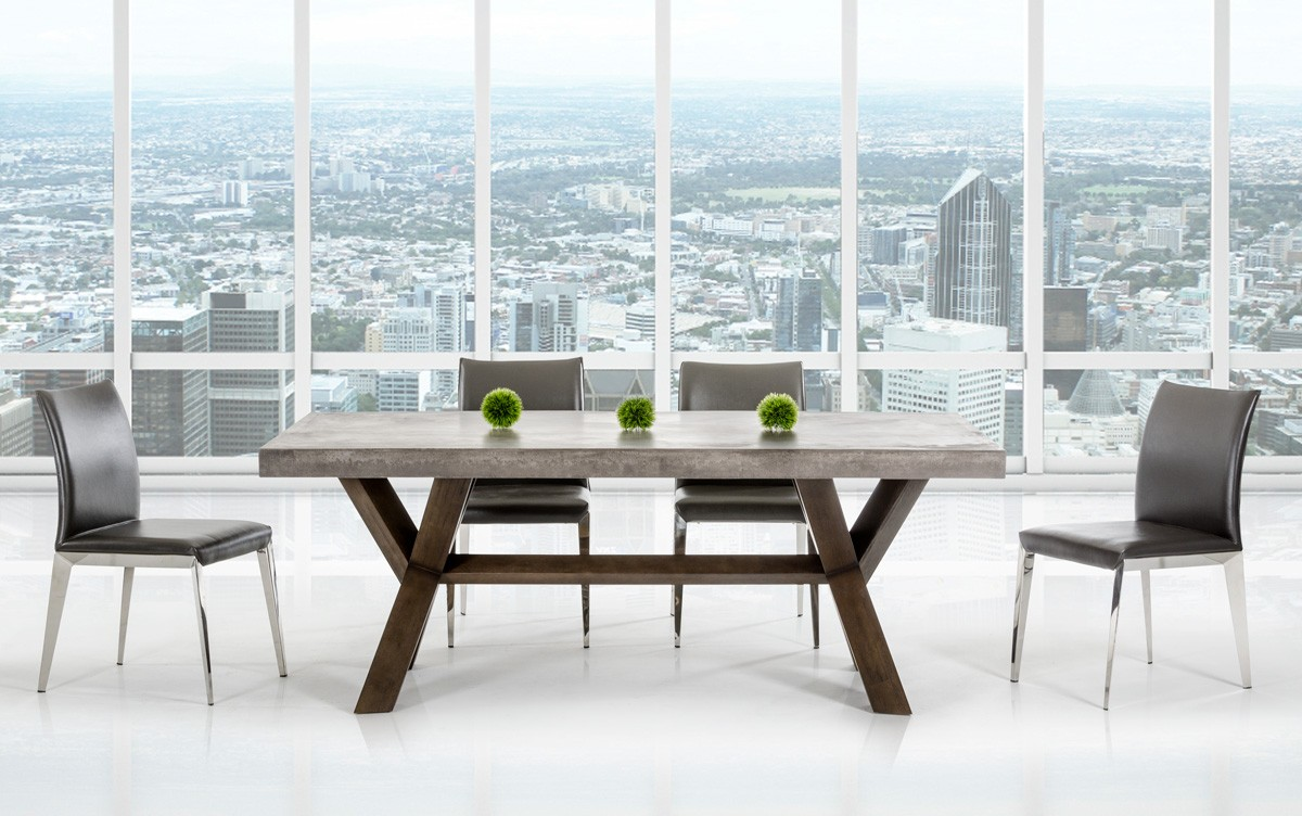 Urban Rectangular The Modrest Concrete Dining Table