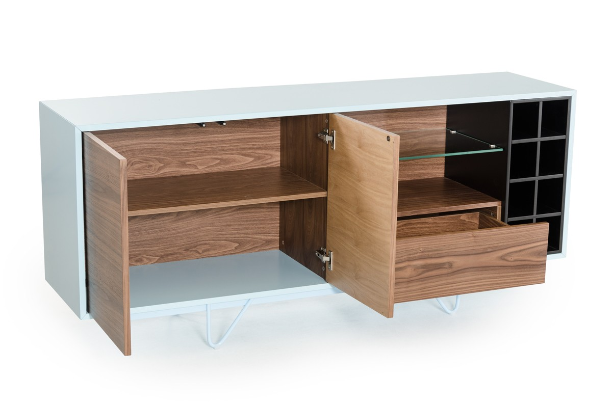 Create a wet bar at home with a modern bar unit la for La furniture