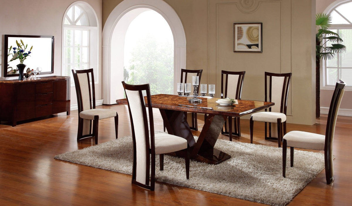 Dining room set for simple and formal dining room themes for Formal dining room sets modern