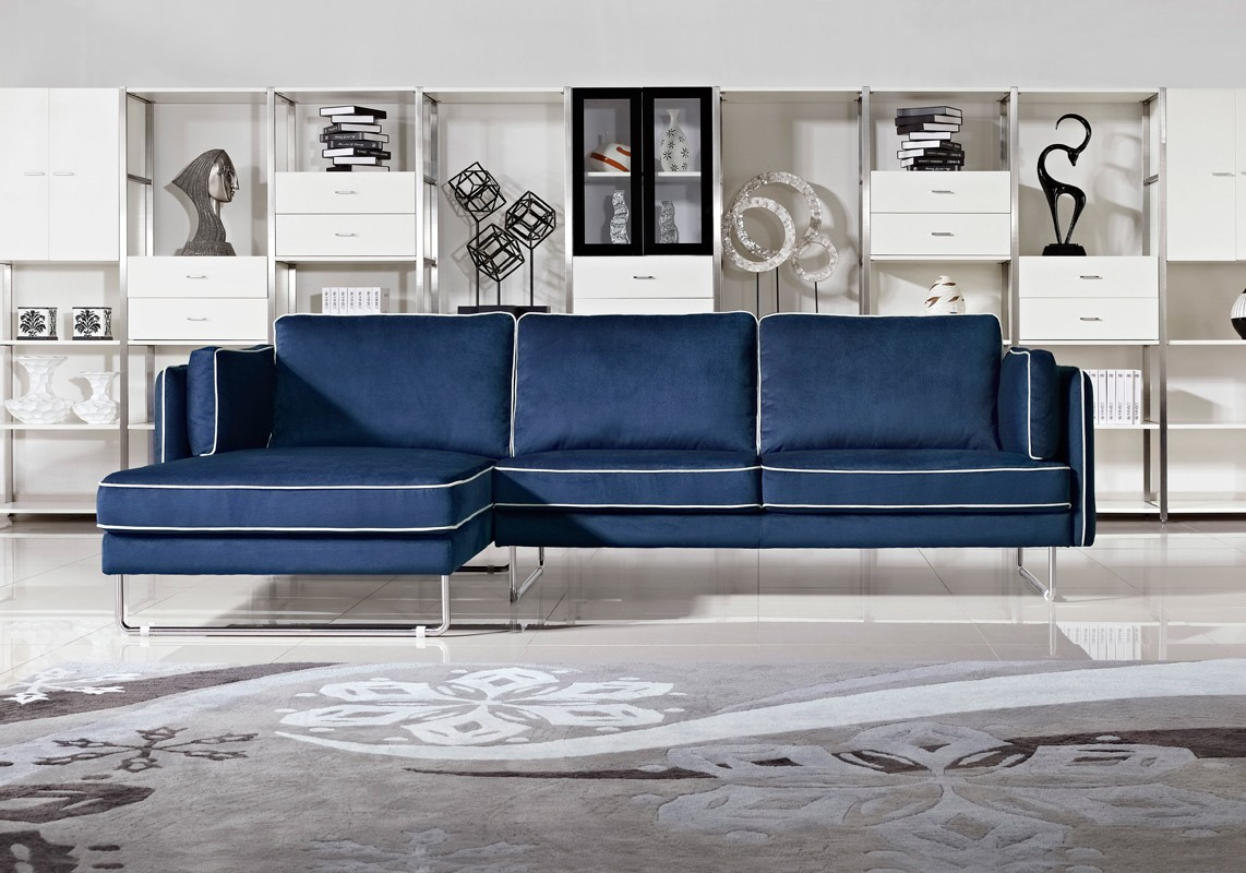 How To Decorate Your Living Room With A Modern Blue Fabric