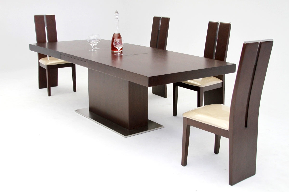 Modern furniture for a sleek and elegant dining room la for Sleek dining room tables