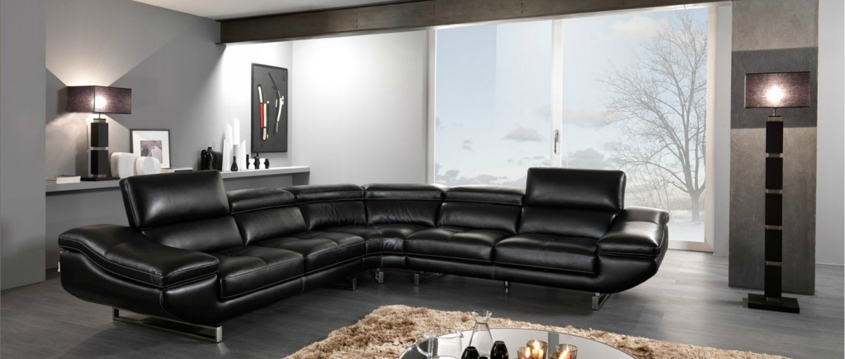 Decorating Tips Around Modern Black Leather Furniture - LA ...