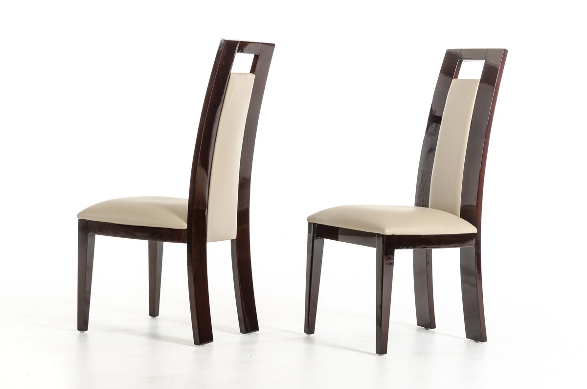 What makes a modern dining room chair comfortable la for Dining room chairs