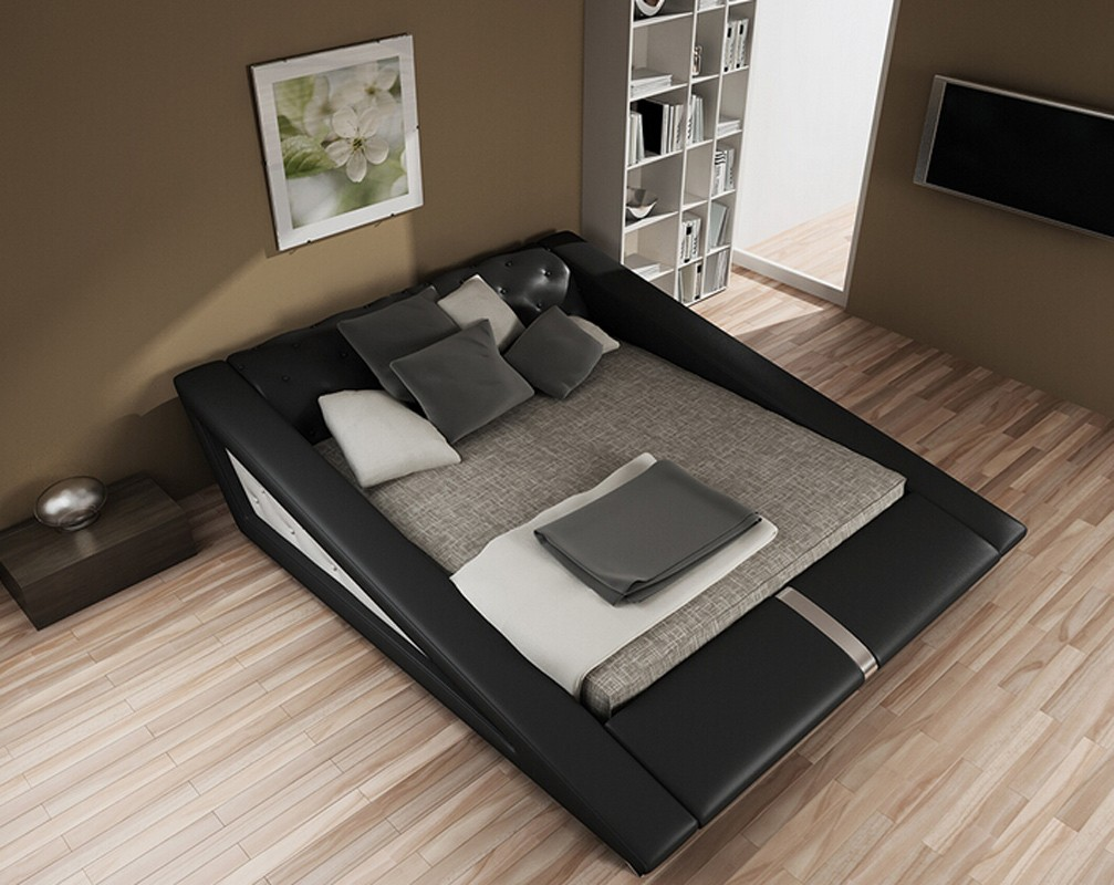 Small modern bedroom space decorating tips la furniture blog for Small space furniture stores