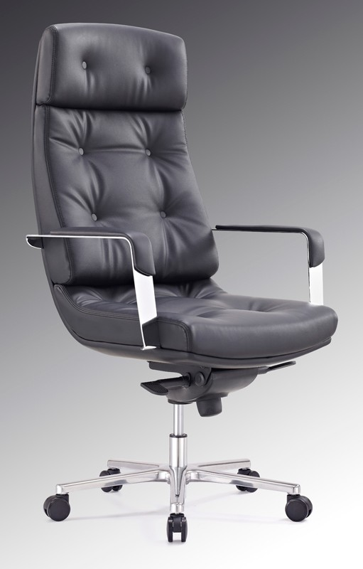 contemporary leather high office chair black. F133-black-1-web. Executive Office Chairs. Modern Chairs Feature High Contemporary Leather Chair Black