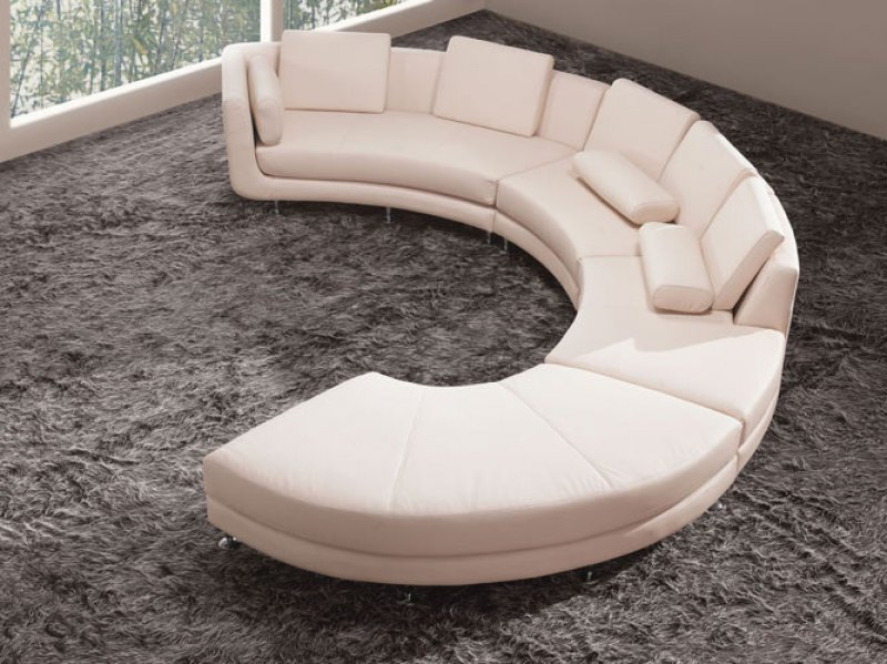 Curved Sectional Couches. The Curved Sectional Couches Can Be Semi Circle  Or An U0027Su0027 Form. It Is An Ultra Modern Shape And Is Safe With Kids And Pets  Because ...